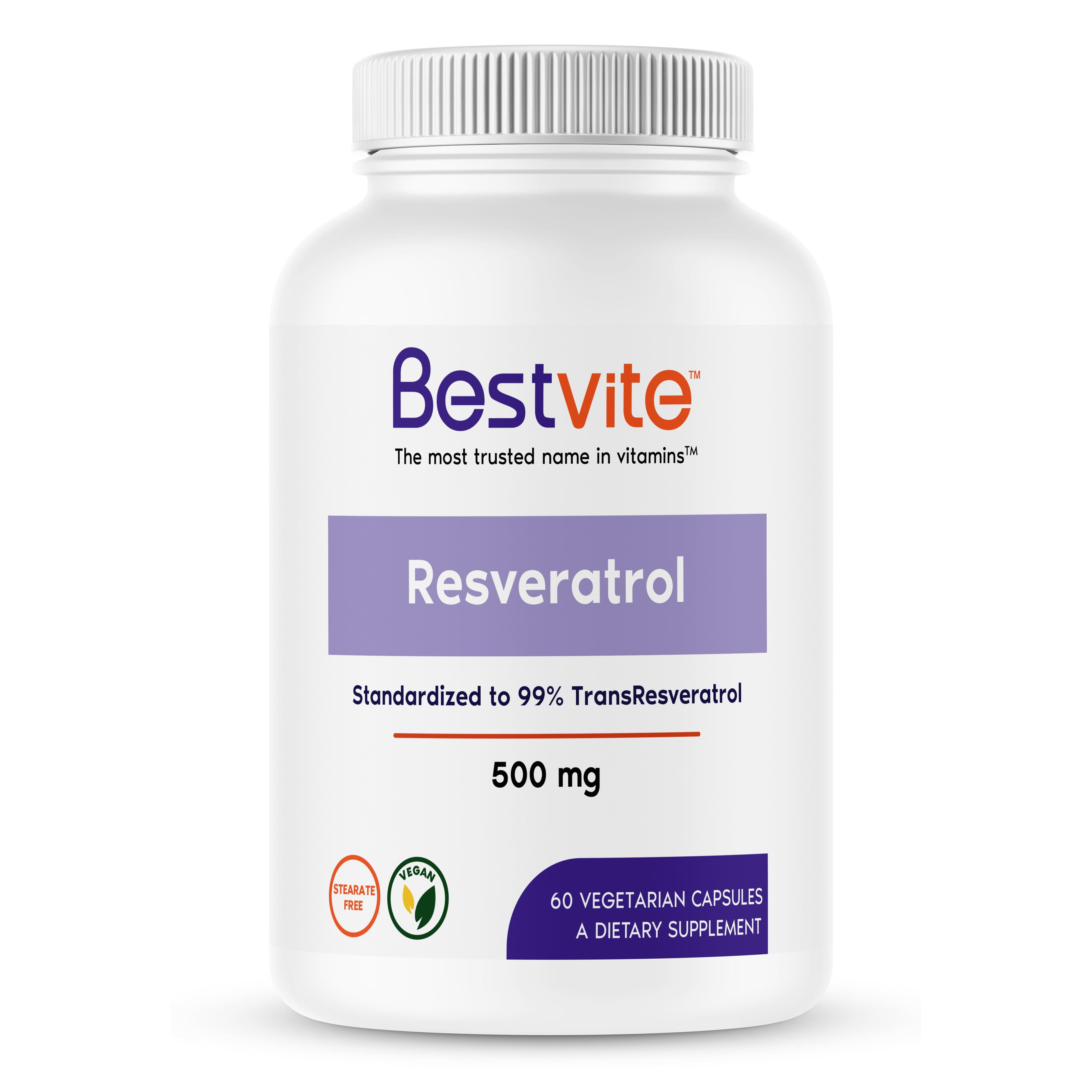 Resveratrol 99 500mg 60 Vegetarian Capsules Walmart Com