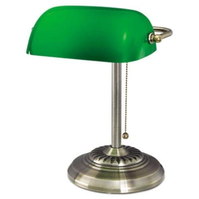 Alera Lmp557ab 14 In Traditional Bankers Lamp 44 Green Glass Shade With Antique Brass Base Walmart Canada