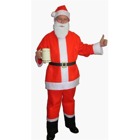 Halco 4000 Santa Claus Beer Bar Crawl Spree Adult Costume - 42-48 Jacket Up to 52 - Bar Crawl Ideas