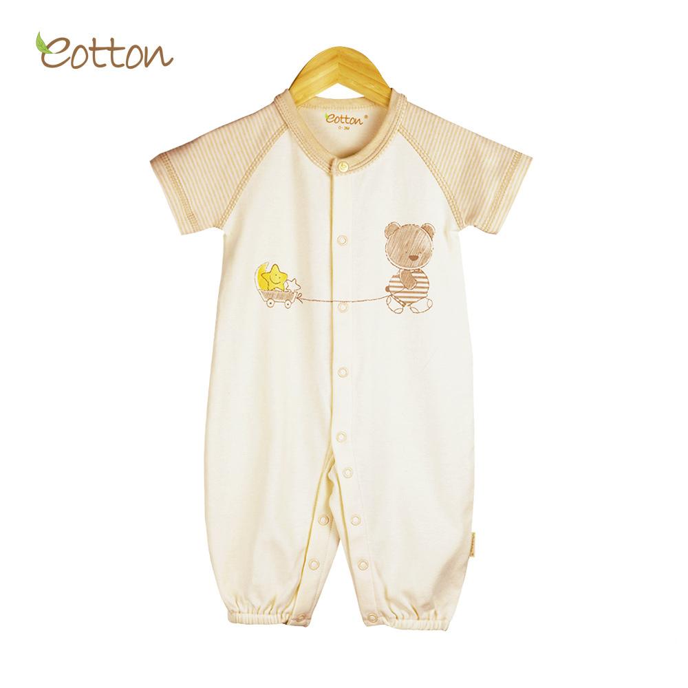 aa81508673 Certified Organic Baby Toddler Short Sleeve One-Piece Romper Footsie Sleeper