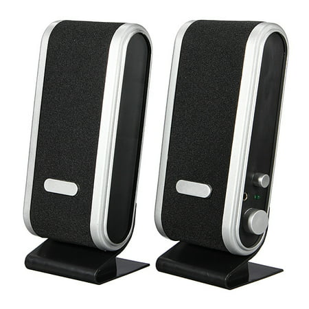 USB Power Stereo Speaker Loudspeaker Box Earphone 3.5mm Jack For Laptop PC Phone ()