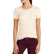 White Stag Women's Short Sleeve Stripe Scoop Neck T-Shirt