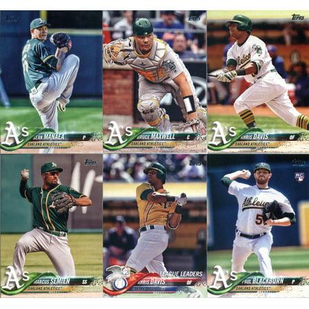 Team Set Matt - 2018 Topps Oakland Athletics Team Set of 11 Baseball Cards (Series 1): Daniel Coulombe(#16), Jed Lowrie(#69), Jharel Cotton(#106), Matt Joyce(#155), Khris Davis(#169), Marcus Semien(#198) plus more!