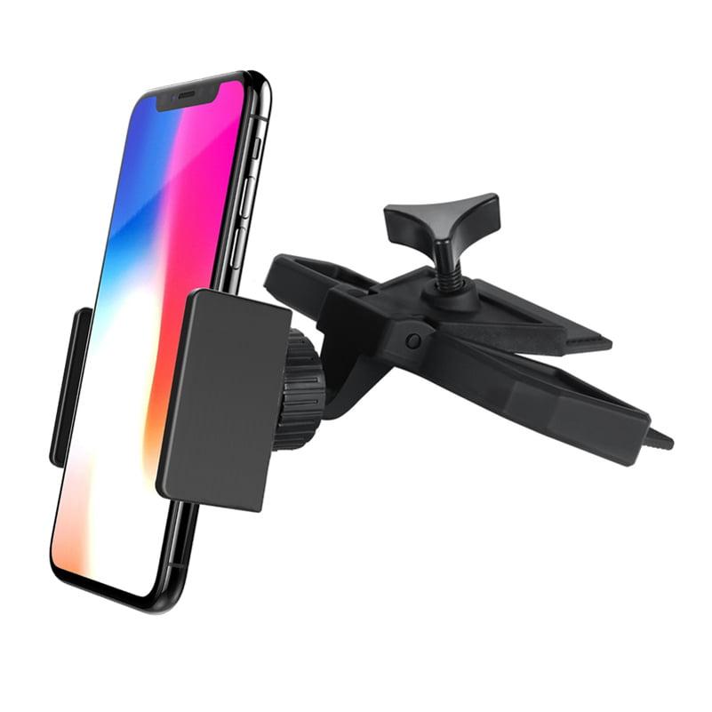 Premium Car Mount CD Slot Phone Holder Rotating Dock Stand [Strong Grip] D3O for Google Pixel 2 XL - HTC 10, Bolt, U11 - Huawei Mate 10, P10 P9 - LG G5 G6 G7 ThinQ, Stylo 3, V20 V30