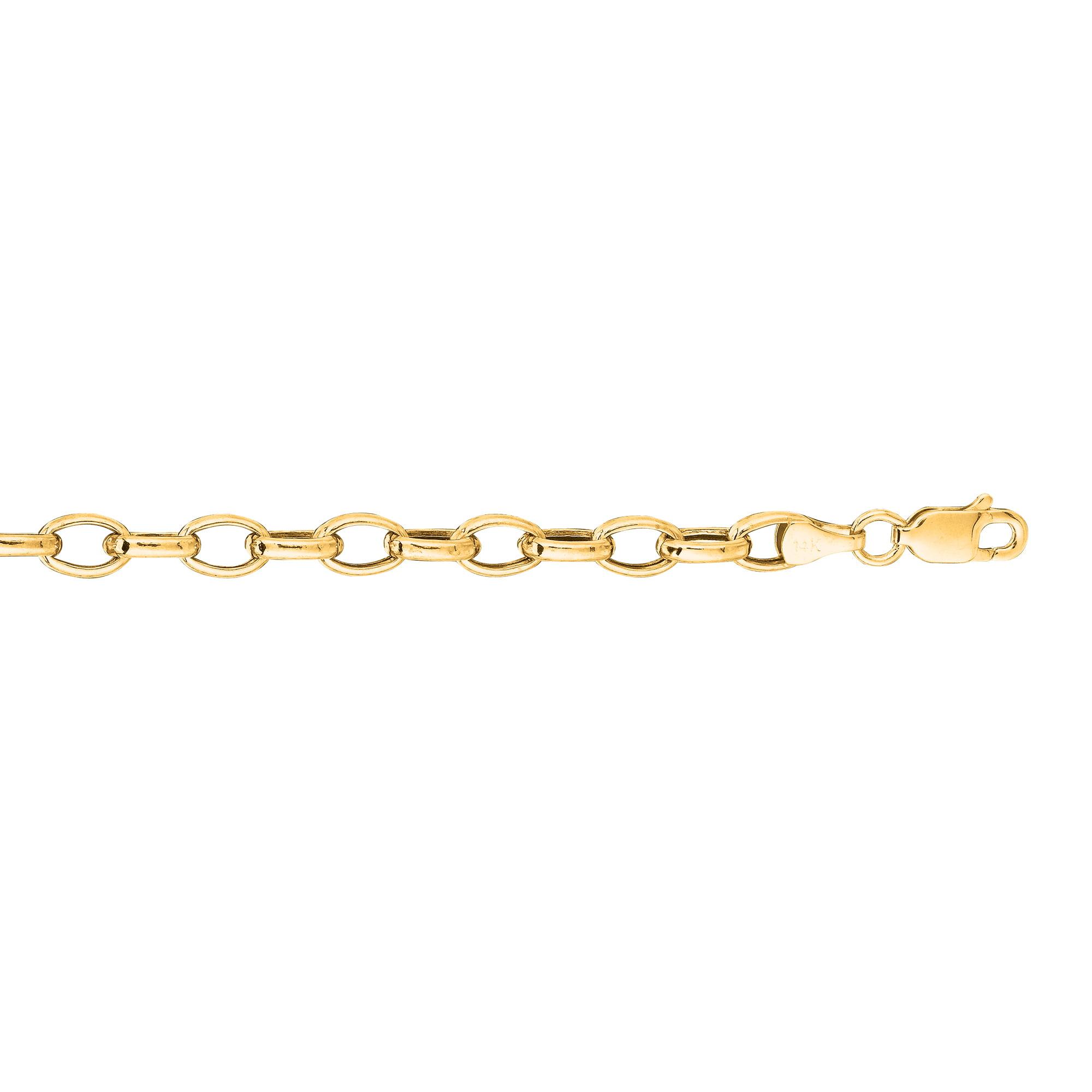 BH 5 Star Jewelry 14k Yellow Gold Diamond Cut Forsantina Chain