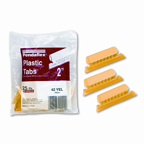 Esselte Pendaflex Corporation Hanging File Folder Tabs, 1/5 Tab, Two Inch, 25/Pack