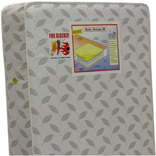 Dream On Me 132 Premium Coil Inner Spring Standard Crib and Toddler Mattress