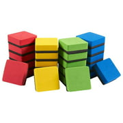24 Pack Small Whiteboard Dry Erase Erasers Bulk for Pen and Marker, Home, School, Classroom, Office Supplies, 1.9 x 0.7 in, Assorted Color