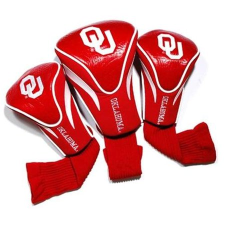 University of Oklahoma 3 Pack Golf Contour Sock Headcovers College Mascot Golf Headcover
