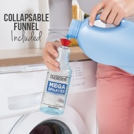 6e01c6d2cb9e Duracare Clear Spray Bottles, 32oz 3-Pack - Industrial Strength, Chemical  Resistant & Leak Proof Plastic Spray Bottles w/ Adjustable Nozzles, 2 ...