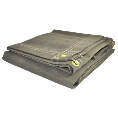 Foremost Dry Top Tarp Canvas 61620 16' X 20' Olive Canvas Tarp