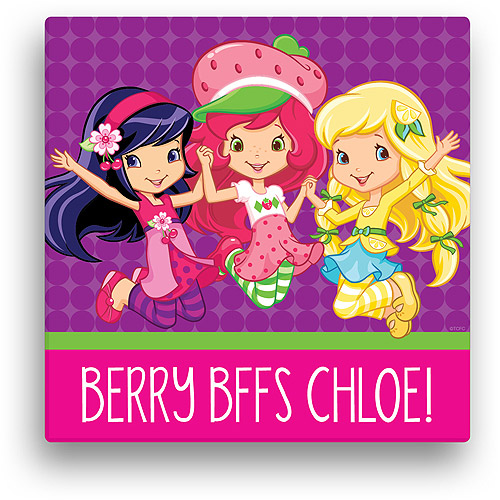 Personalized Strawberry Shortcake Berry BFFs 16' x 16' Canvas Wall Art