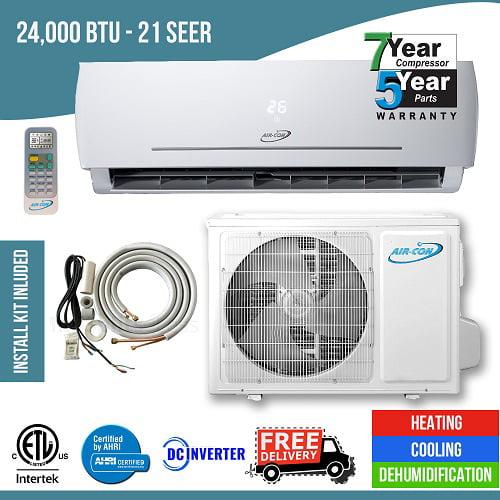 24 000 Btu 21 Seer Ductless Mini Split Heat Pum Air Conditoner