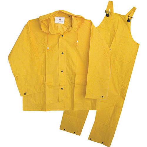 Boss Rainwear 3PF2000YM Medium Yellow Unlined Rainsuit 3 Piece by Boss Mfg Co.