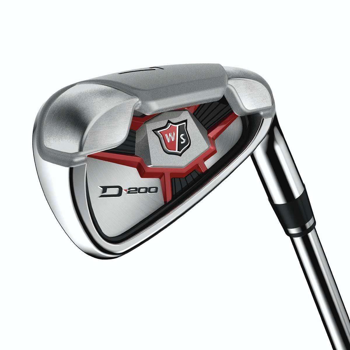 Wilson Staff D200 Irons Set 4-PW+GW (Steel, UNIFLEX) Golf Clubs NEW