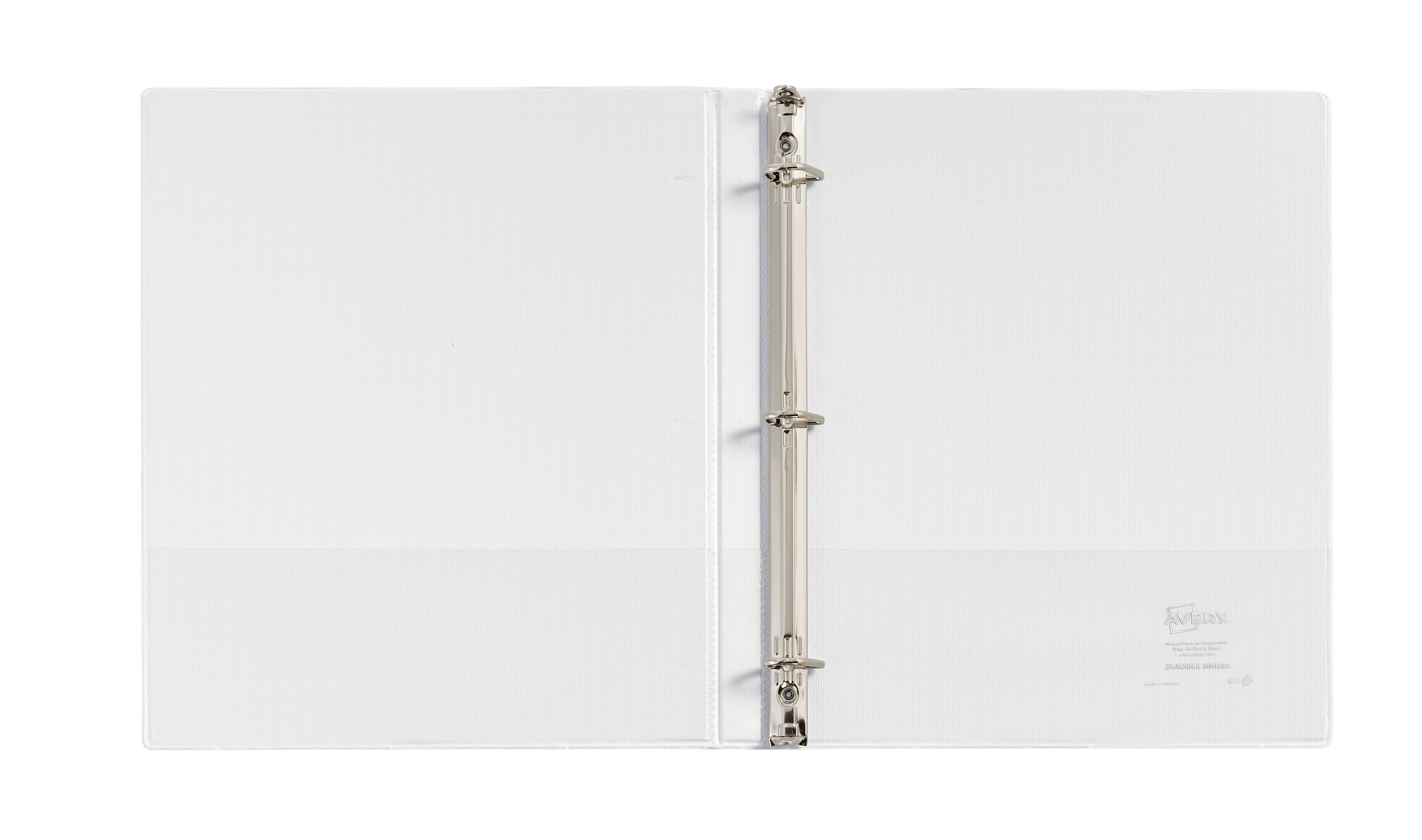 avery 1 2 durable view binder slant rings durahinge white 17002