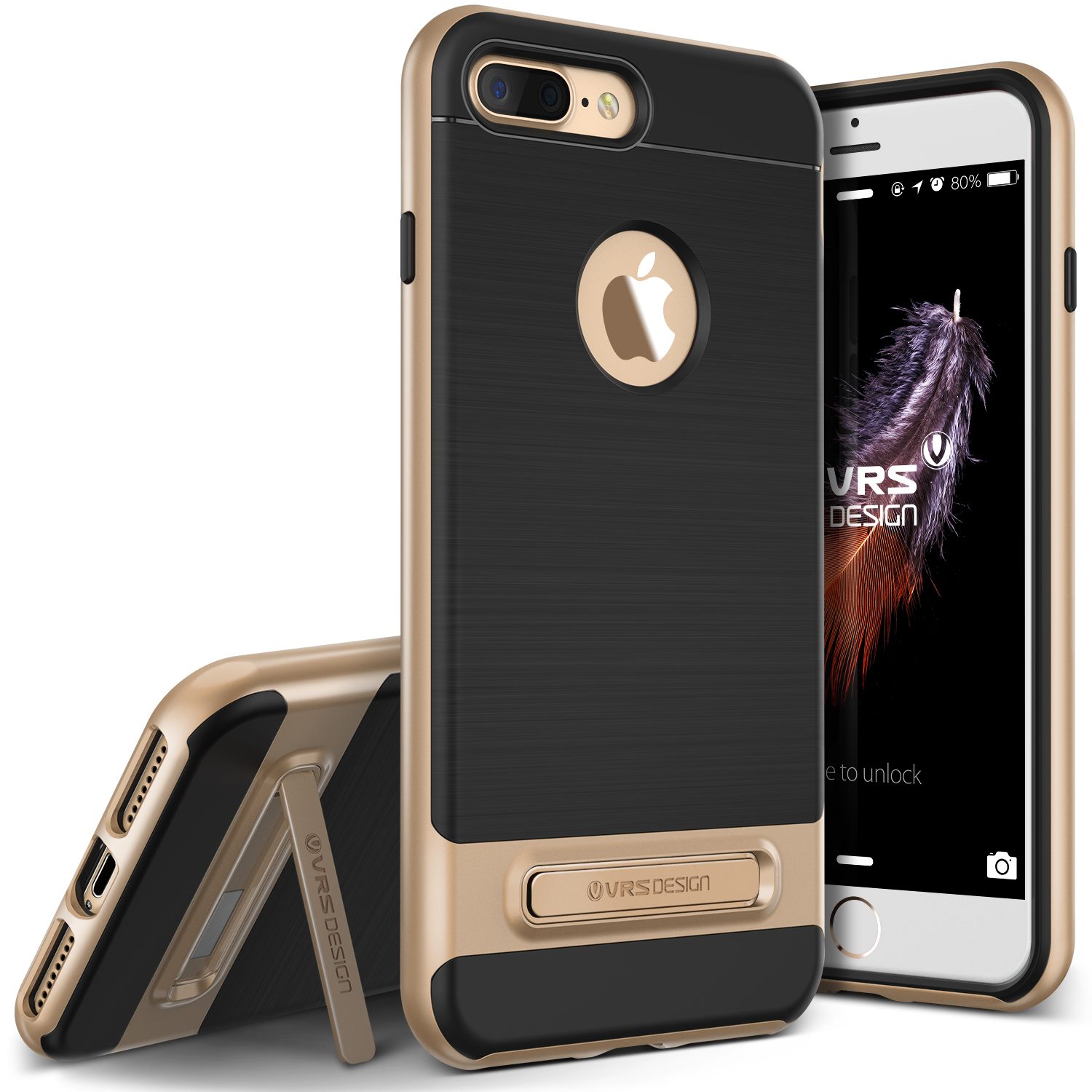 iPhone 8 Plus Case, iPhone 7 Plus Case, VRS Design [High Pro Shield] Slim Shockproof Rugged TPU Cover with Kickstand