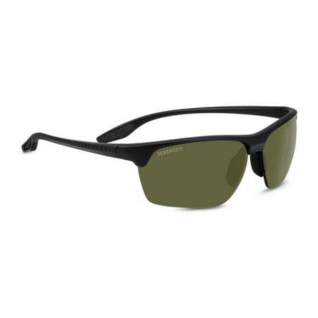 Serengeti Linosa 68mm Polarized Wrap-Around Sunglasses (Matte (Serengeti Glasses Repair)