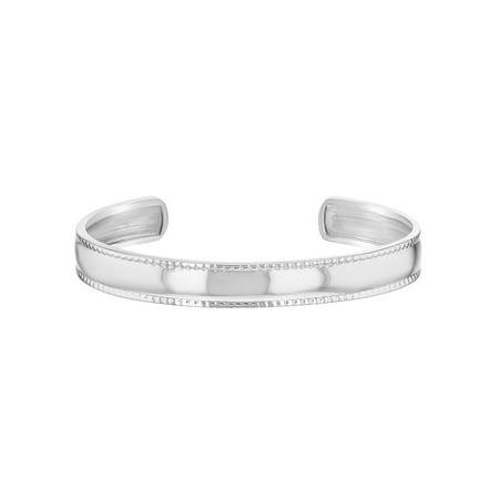 925 Sterling Silver Wide Plain Cuff Bangle Bracelet Baby Girls Infants Toddlers Infant Baby Bracelet