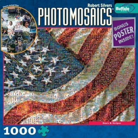 Photomosaic Stars & Stripes Jigsaw Puzzle