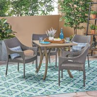 Christopher Knight Home Carroll Outdoor 5 Piece Acacia Wood/ Wicker Dining Set by