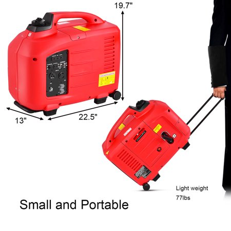 Portable 3500W 120V Digital Inverter Generator 4 Stroke 149cc Single Cylinder - image 9 of 10
