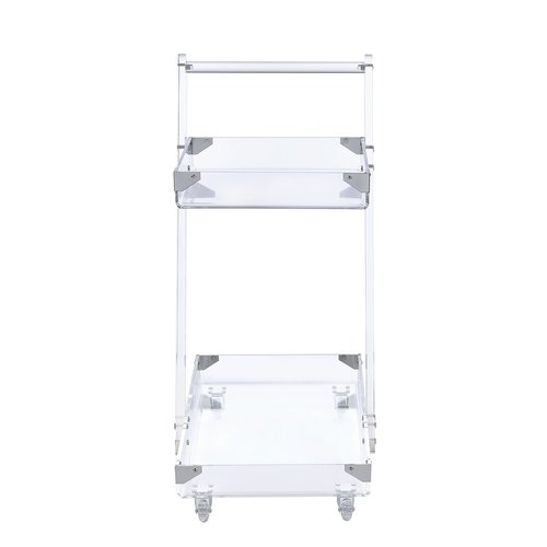 Coaster Serving Cart in Clear by COA INC