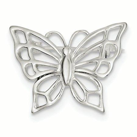 Sterling Silver Butterfly Pin Sterling Silver Filigree Brooch