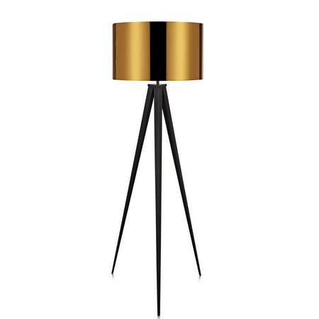 Versanora - Romanza Tripod Floor Lamp with Gold Shade
