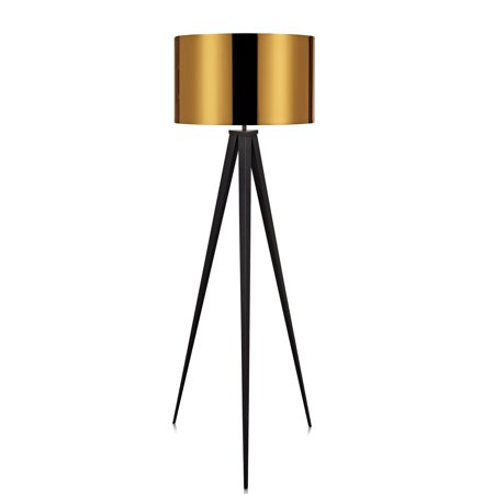 Versanora - Romanza Tripod Floor Lamp with Gold Shade