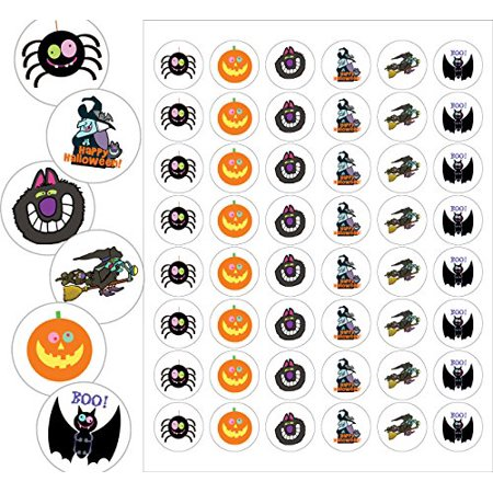Assorted Halloween Envelope Seals - 1.2