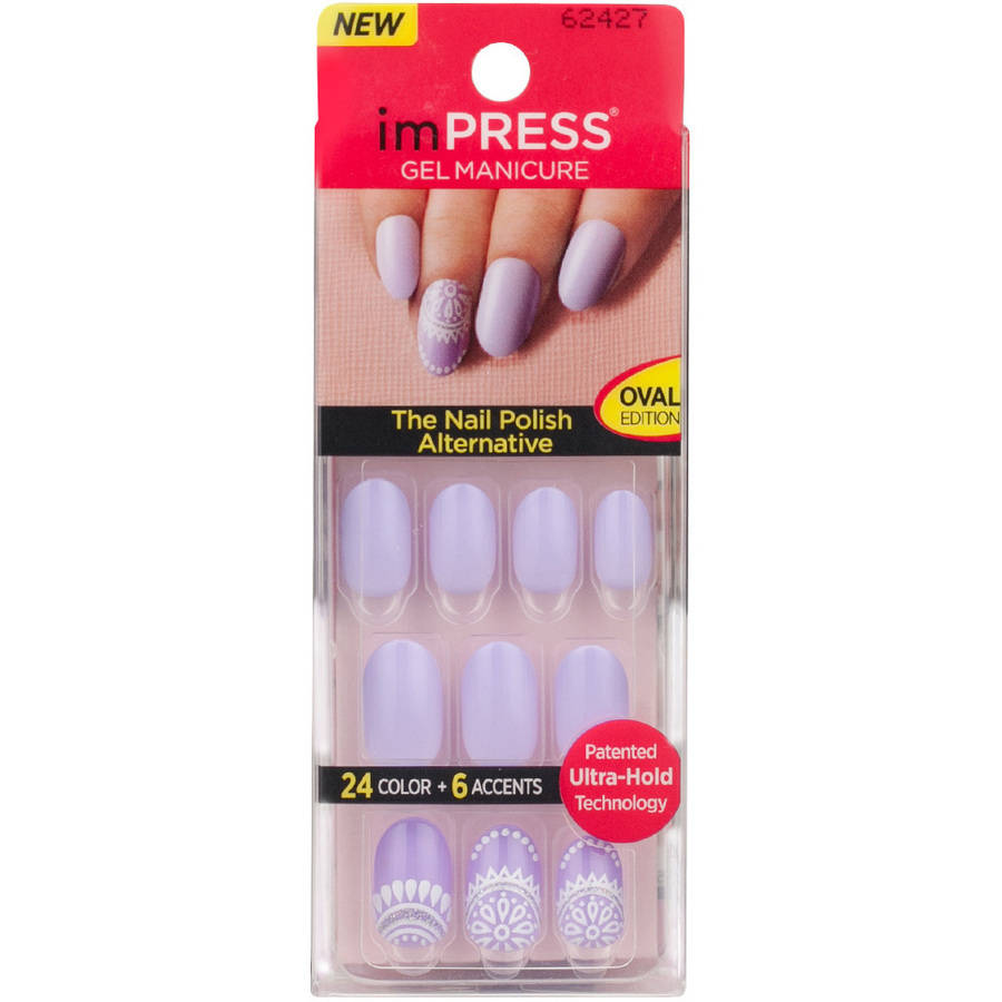 imPRESS Oval Edition Gel Manicure, 30 count