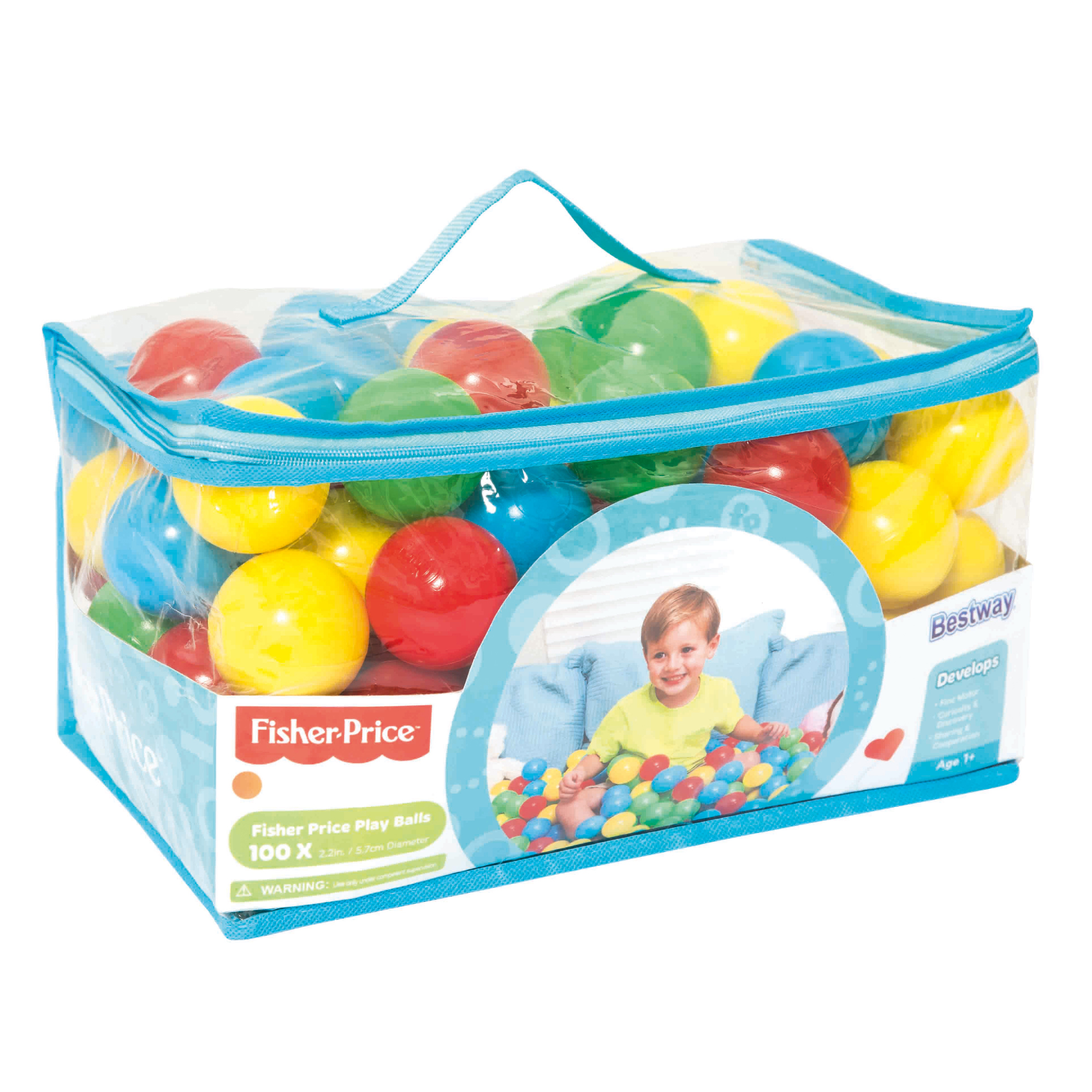 Fisher Price 2.2 Inches 100 Play Balls by Bestway