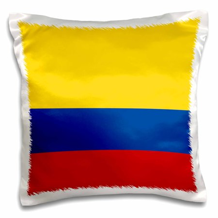 3dRose Flag of Colombia Colombian gold yellow blue red horizontal stripes patriotic South America American - Pillow Case, 16 by 16-inch ()