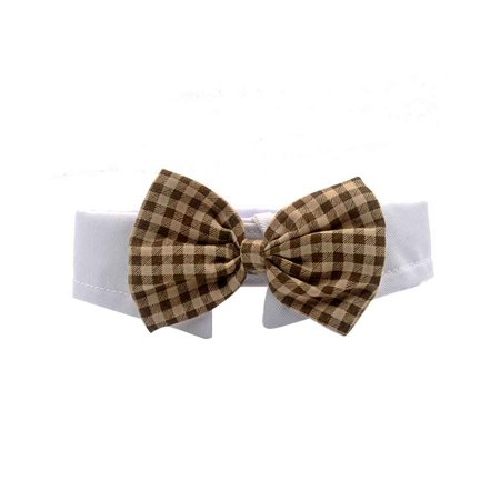 Grid Style Pet Dog Bowties Cat Bowknot Photo Props Neckties Puppy Kitten Party Dress up Collar
