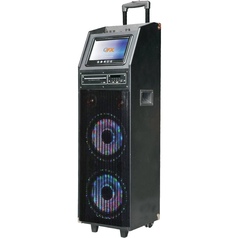 QFX PBX-410206BTD Portable Bluetooth Karaoke PA Speaker by Qfx
