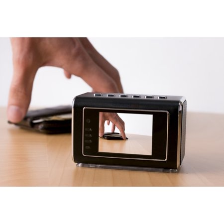 Catch Thief w/ Motion Detect nfrared Clock Mini MicroLens Camera Gear - image 1 of 7