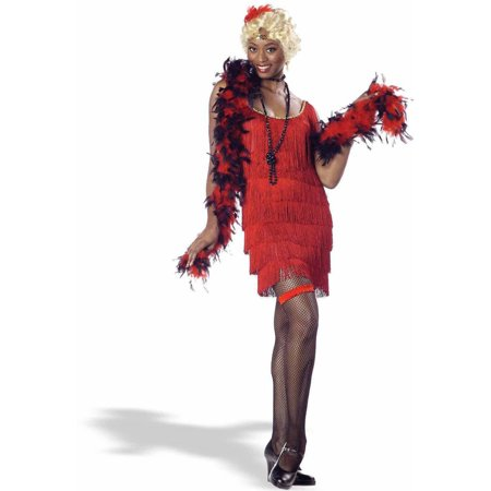 Fashion Flapper Red Women's Adult Halloween Costume - Red Flapper