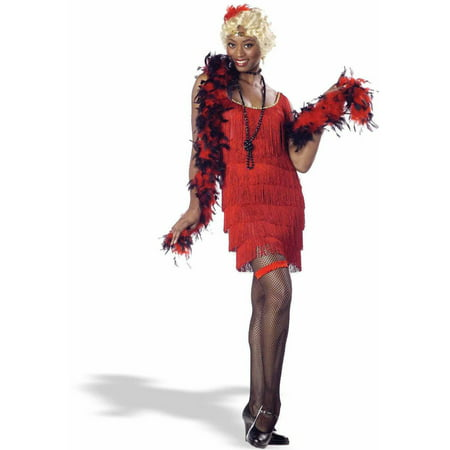 Fashion Flapper Red Women's Adult Halloween Costume](Halloween Flapper Girl)