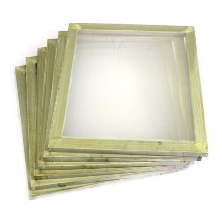 Silkscreen Printing (6 Pack Aluminum Silk Screen Printing Press Screens 110 White Mesh 20