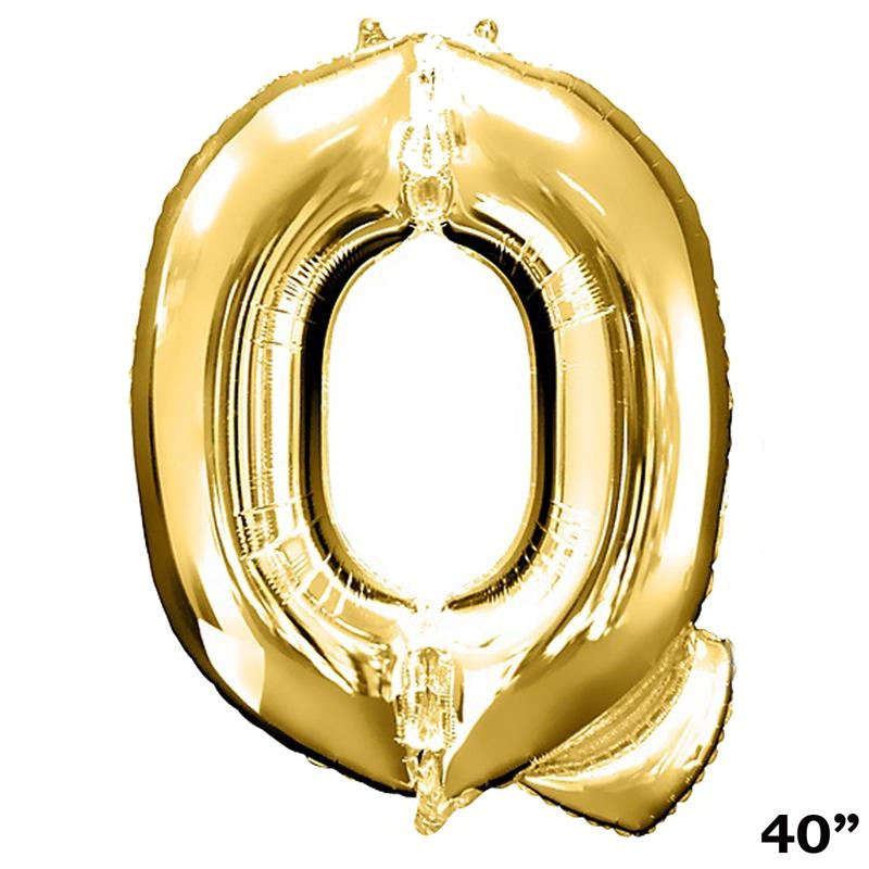 "Efavormart Gold 40"" tall Alphabet Letters/ Number Foil Balloons Birthday Party Decorations Graduation New Year Eve Party Supplies"
