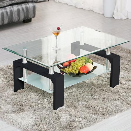 Black Glass Living Room Furniture