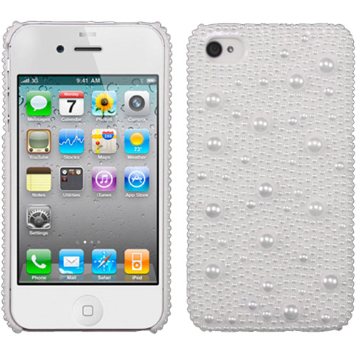 KTA Pearls iPhone 4/4S Bling Rhinestone 3D Cover