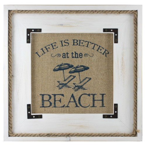Fetco Home Decor Ripple Better at the Beach Textual Art