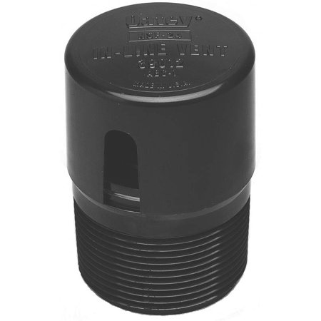 Oatey 39012 In-Line Vent Abs Plain