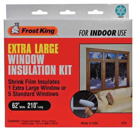FROST KING Shrink Window Kit,62 x 210 In V75H