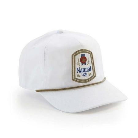 Natural Light 45099 Natty Light Rowdy Gentleman Vintage Logo White Snapback Hat