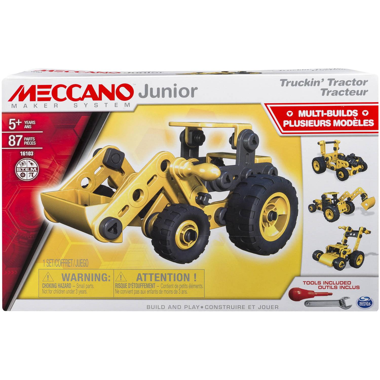 Meccano-Erector Junior Truckin' Tractor, 4 Model Set by Spin Master Ltd