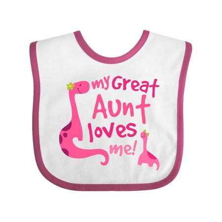 Great Aunt Bib - My Great Aunt Loves Me Dino Baby Bib