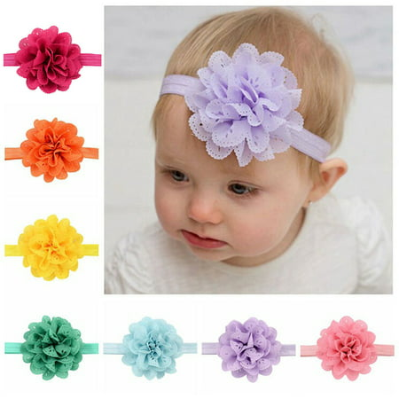 f27389c6b4c8 Coxeer - Coxeer 16PCS Baby Headband Ribbon Flowers Cute Elastic Soft Newborn  Headband Hair Wrap Accessories Photo Props for Infant Toddlers Baby Girls  ...